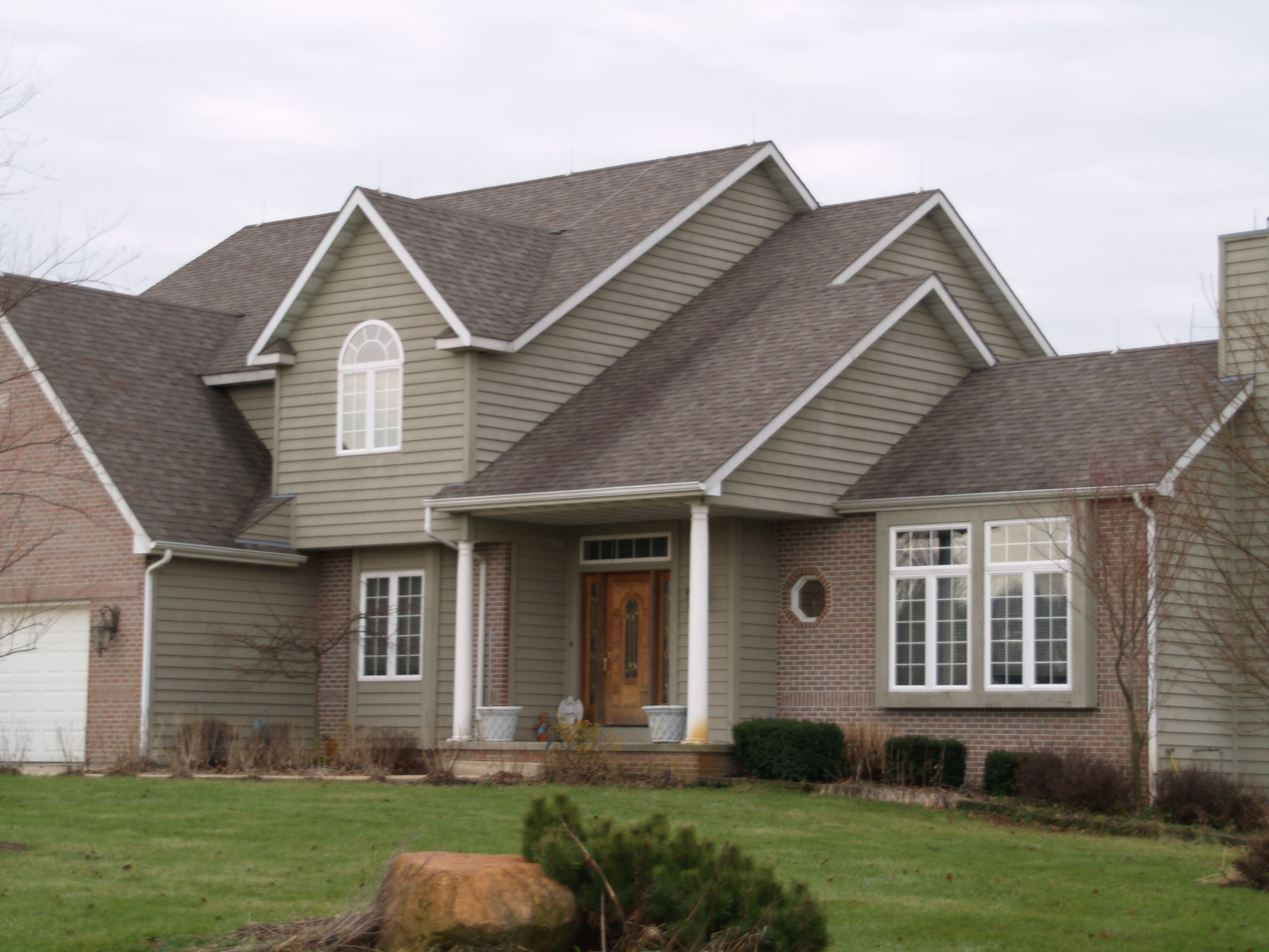 Siding Color Colonial Revival Green Stone Sw2826 Free Estimates Call 219 762 8388 Exterior
