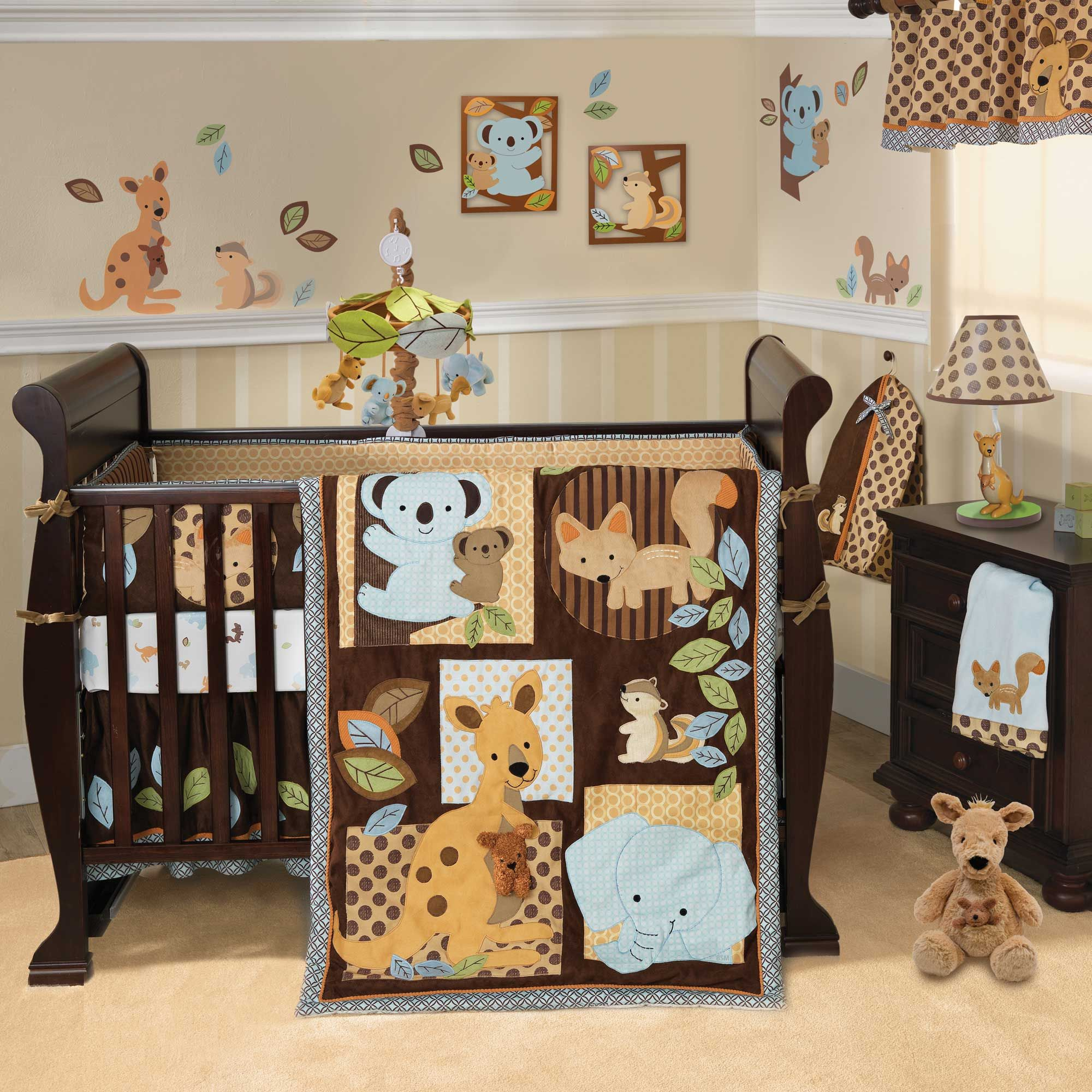 Cool and inspiring ideas for baby boy nursery: funny nursery for baby boy  with wooden