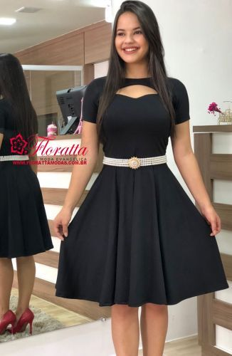 9e16d33b1e Vestido Fabiane. Floratta Modas - Moda Evangélica - A Loja da Mulher  Virtuosa