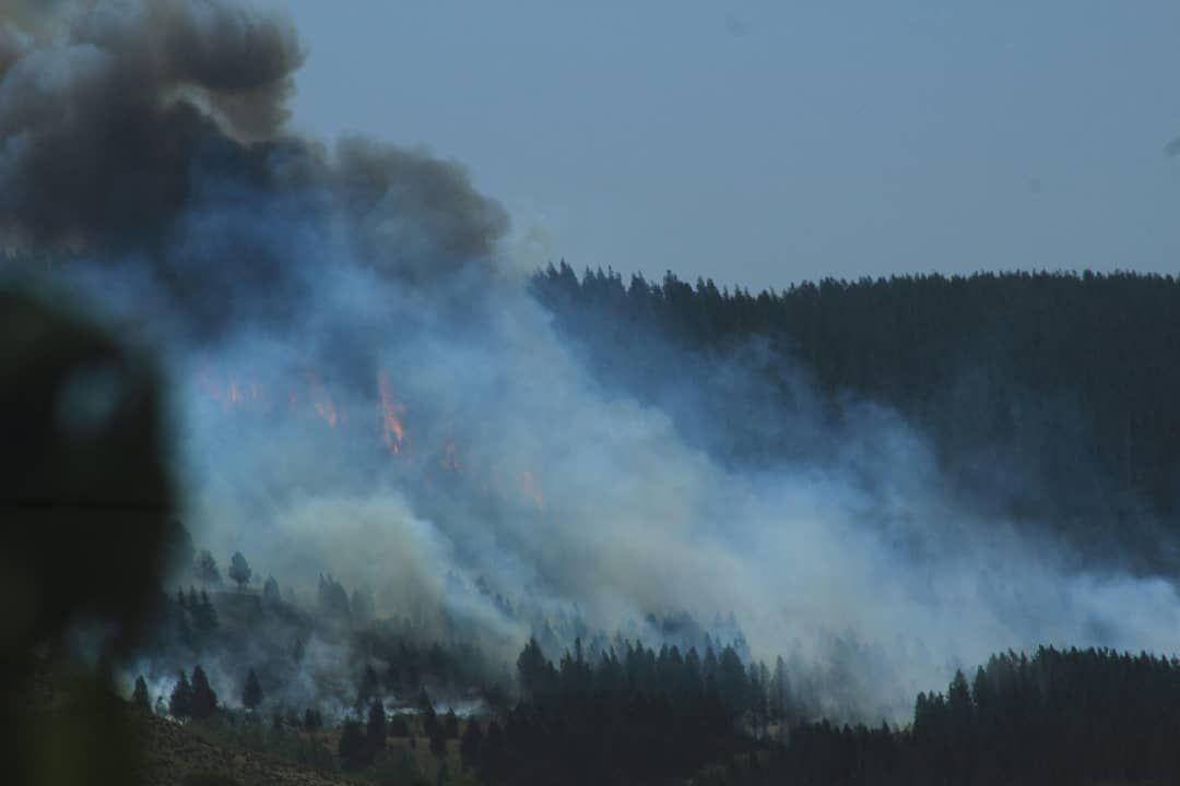 Ahora Grandisimo incendio en Junin de los Andes esta logrando ser controlado gracias