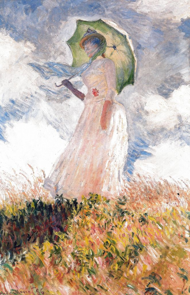 Claude Monet Sketch Of A Figure In The Open Air Woman With A