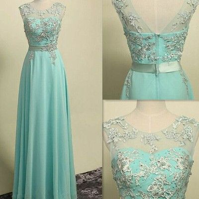 cap sleeves prom dresses,light sky blue prom dress,lace evening ...