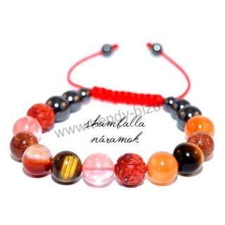 shamballa bracelet red mix