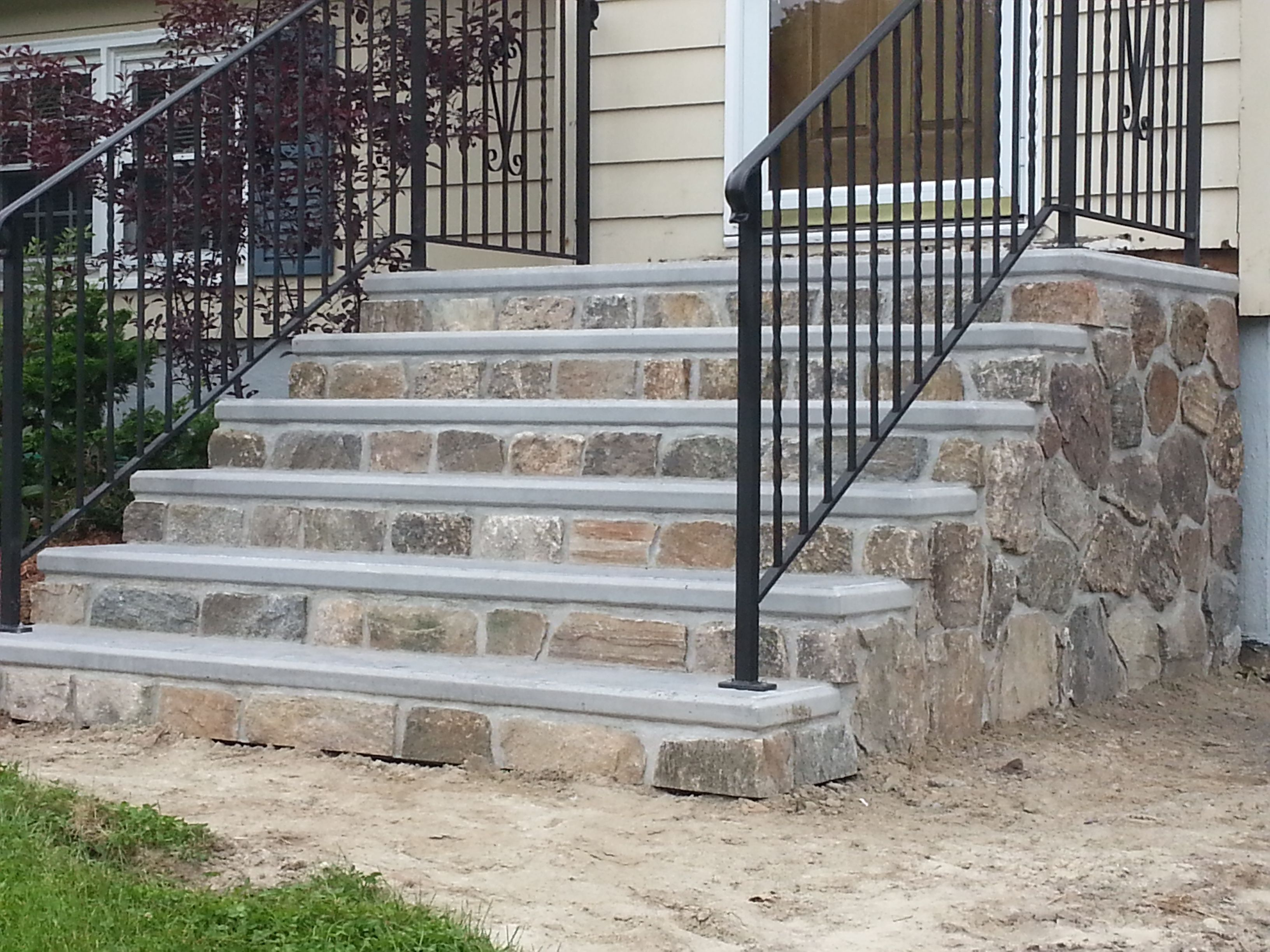 Precast Steps Concrete Products Services Oxford Boston Ma   Premade Steps For Outside   Front Porch   Concrete   Wooden   Precast Concrete Steps   Deck Stairs