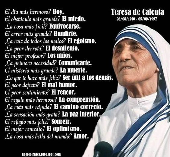 Citas Madre Teresa Calcuta Sobre Vida Pedir Cita De Medico
