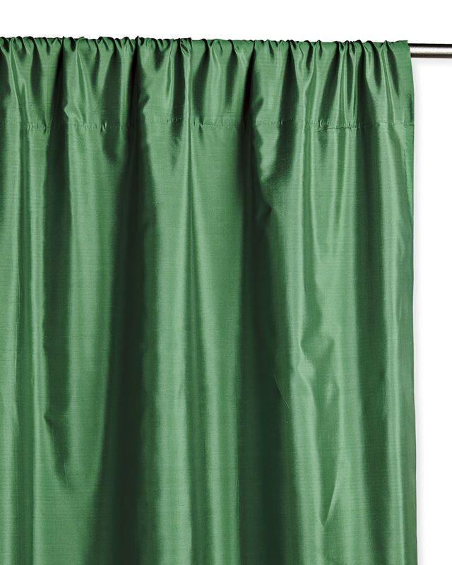 Silk Shantung Window Panel Serena Green Curtains Window