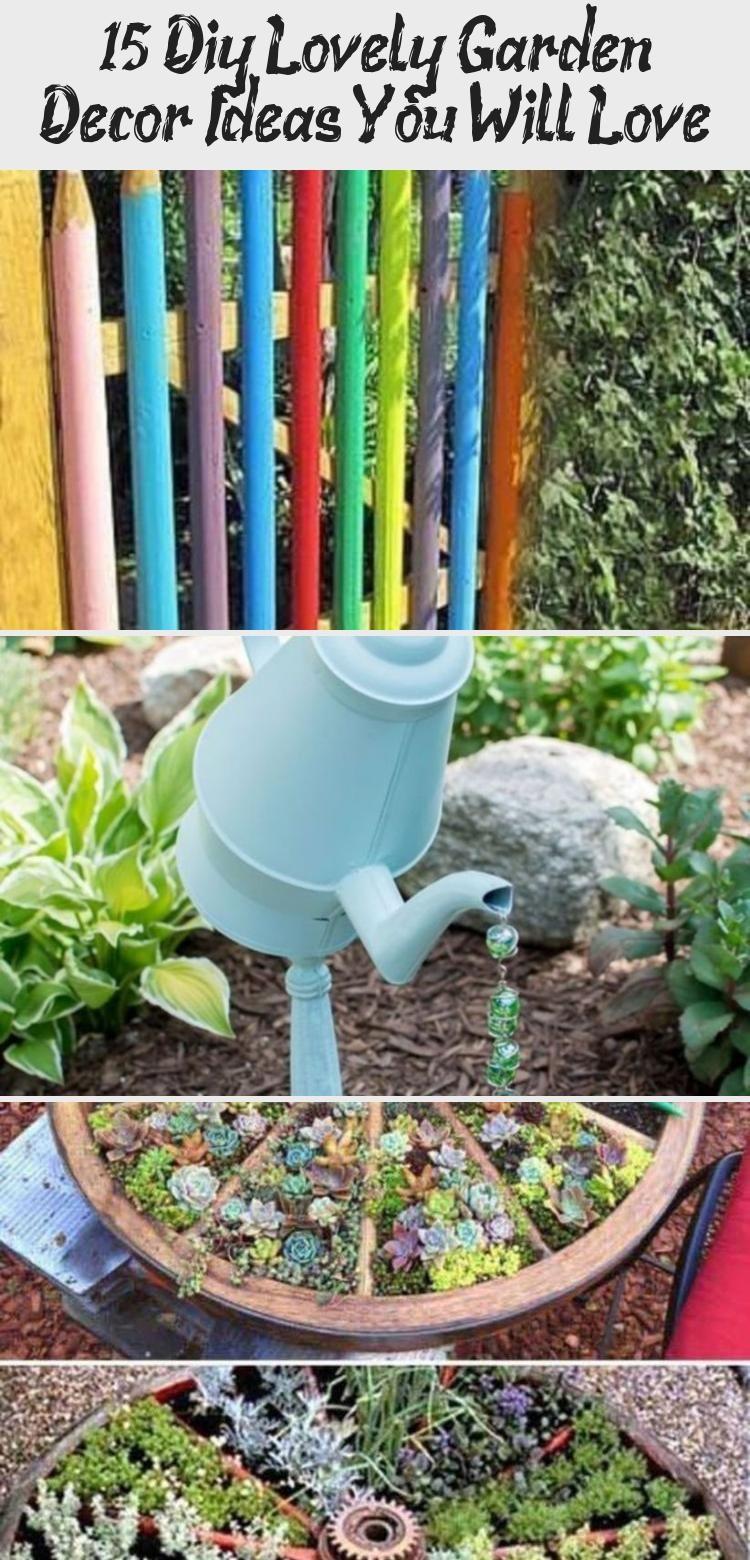 15 Diy Lovely Garden Decor Ideas You Will Love Decor Diy Garden Decor Diy Raised Garden Raised Garden Beds Diy