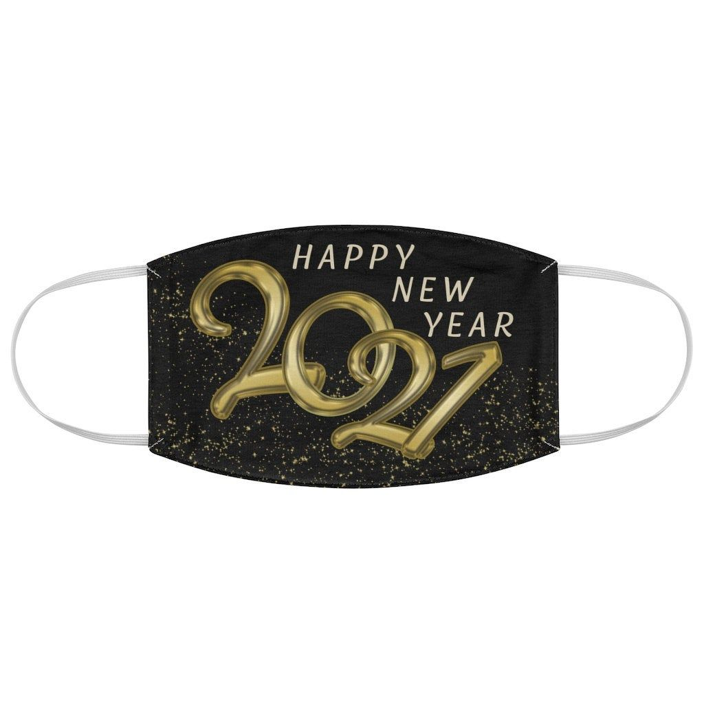 Happy New Year 2021 Holiday 4 Fabric Face Mask Face Etsy In 2020 Face Mask Happy New Year Happy New