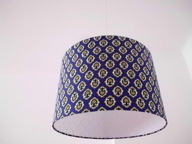 """Lampenschirme - Lampenschirm  34 cm - """"Royalblau"""" - ein Designerstück von XBergLampenschirme bei DaWanda"""