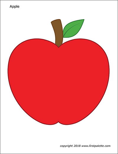 Apples Free Printable Templates Coloring Pages Firstpalette Com Apple Coloring Pages Apple Painting Apple Template