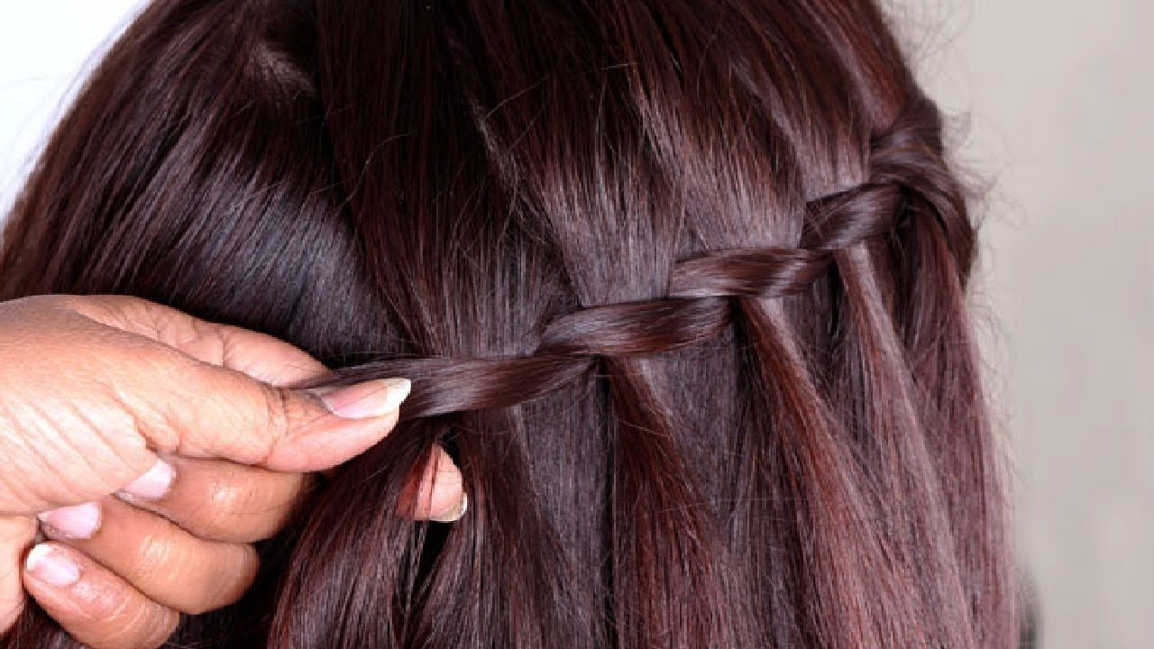 Simple & Beautiful Waterfall Hairstyles Tutorials 2017   Everyday ...