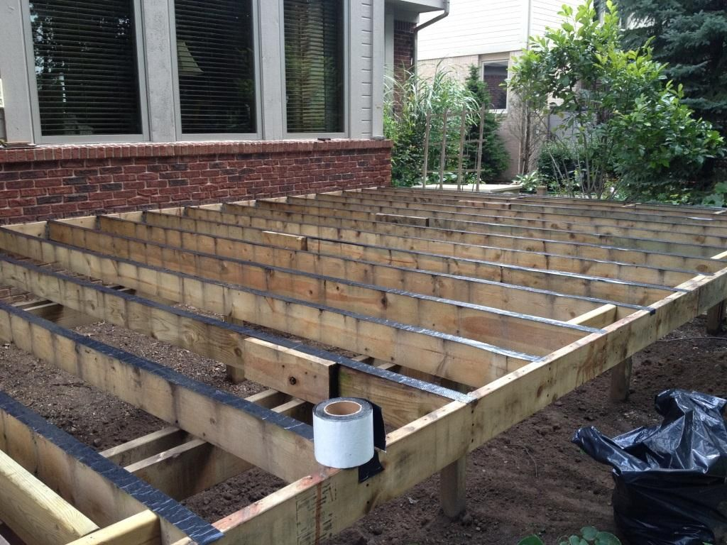 deck framing - Google Search | Building Single Deck Wood Patio ...