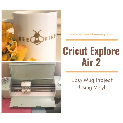 Cricut Explore Air 2 Easy Mug Project Using Vinyl #cricutexploreair2projects If you don't know about the Cricut Explore 2 let me explain how it works. It cuts a hundred different craft materials  like cardstock, vinyl, and iron-on. You can do so much with this crafting beauty, the DIY projects are endless.  The post Cricut Explore Air 2 Easy Mug Project Using Vinyl appeared first on A Break 4 Mommy. #cricutexploreair2projects Cricut Explore Air 2 Easy Mug Project Using Vinyl #cricutexploreair2pr #cricutexploreair2projects