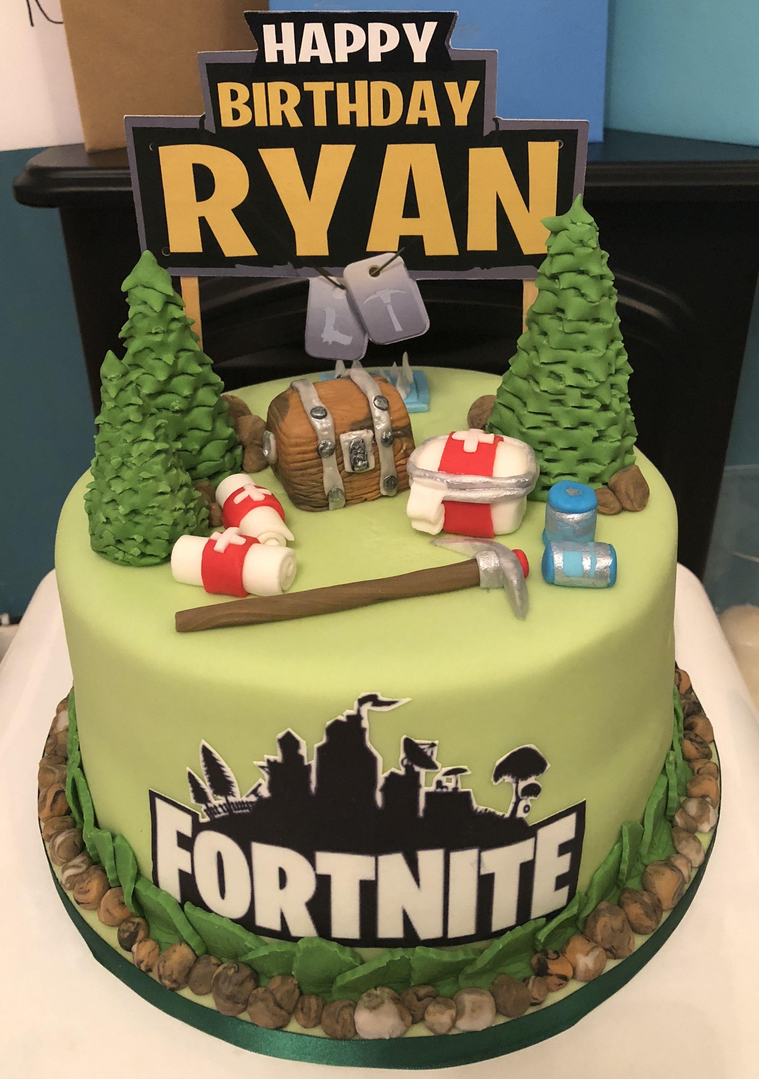 Fortnite Cake Battle Royal Boys 16th Birthday 9th Parties 13th