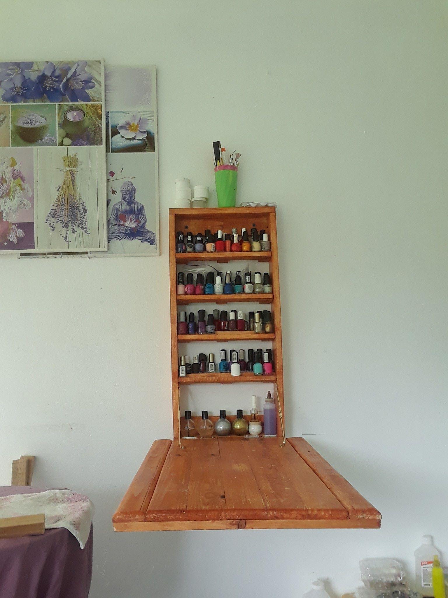 Mesa para hacer uñas fabricado con madera reciclada | OMWoods ...