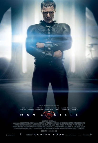 Man of Steel – New Character Posters for Superman, Zod and Jor-el