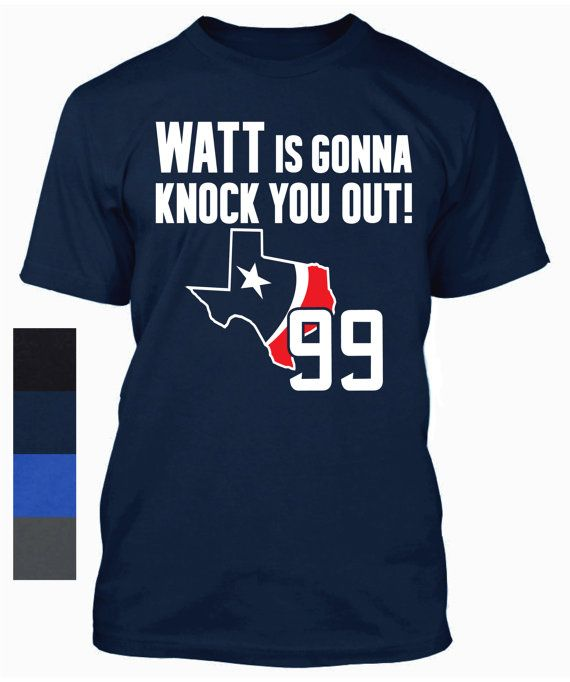 promo code fc868 81771 J.J. Watt Shirt Houston Texans Tee Jersey J.J. by ...