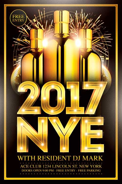 New Year Flyer Template -   xtremeflyers/new-year-flyer - free new years eve flyer template