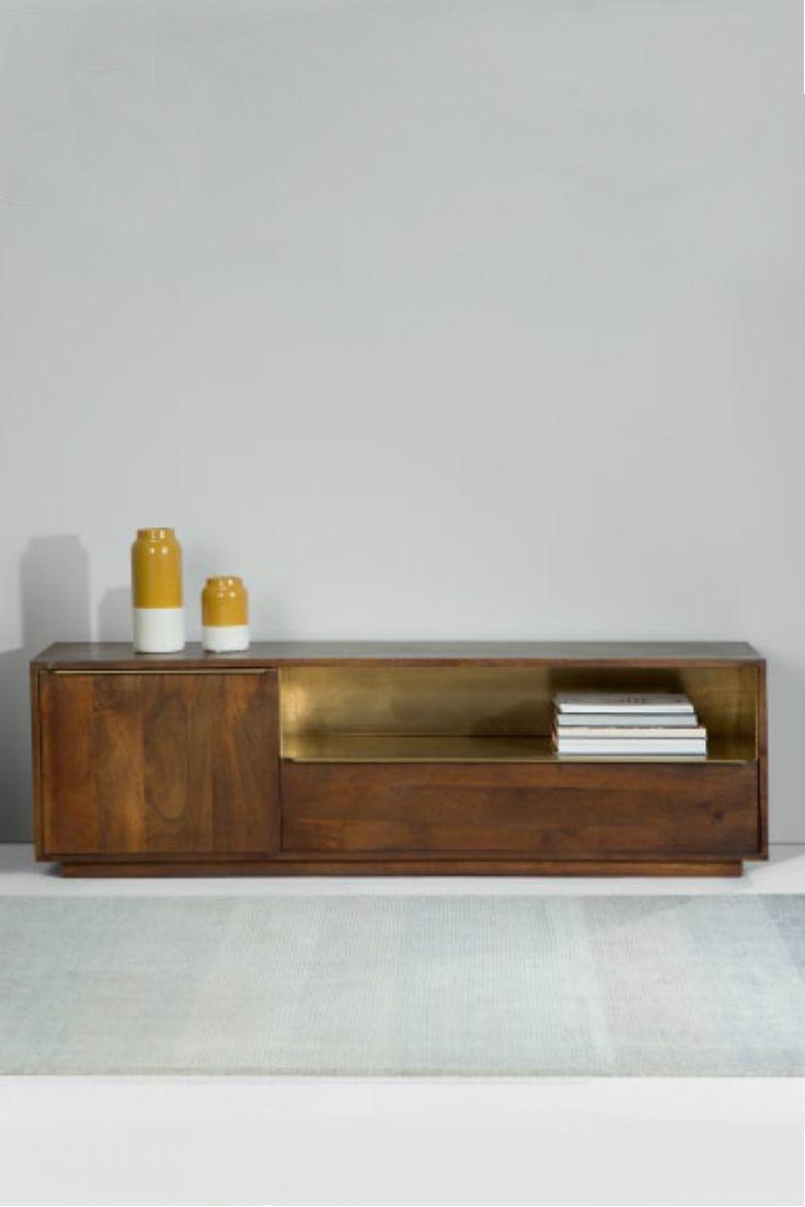 anderson tv bank markanter industrial chic aus mangoholz diese tv bank ist ein hingucker. Black Bedroom Furniture Sets. Home Design Ideas