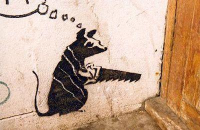 Banksy Rat Stencil | B a n k s y | Banksy stencil, Banksy