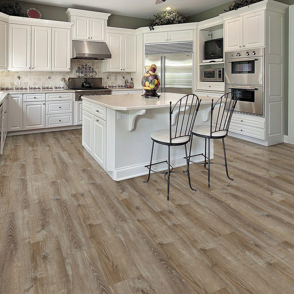 smoked oak almond luxury vinyl plank flooring sq ft case - Allure Plank Flooring