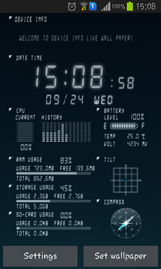 Device Info Live Wallpaper For Android Free Download