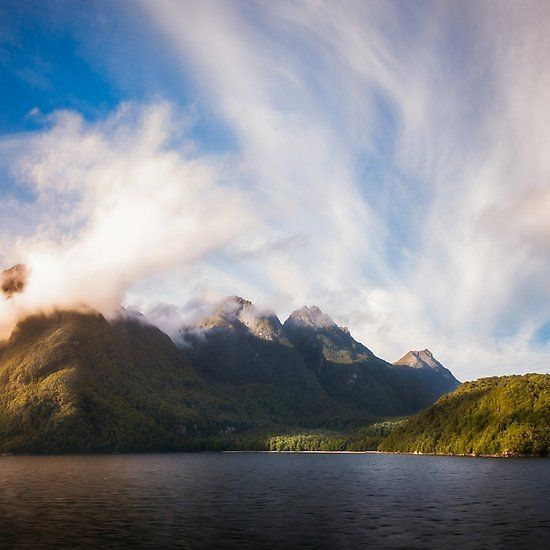 Glorious Light early in the Morning on Lake Manapouri