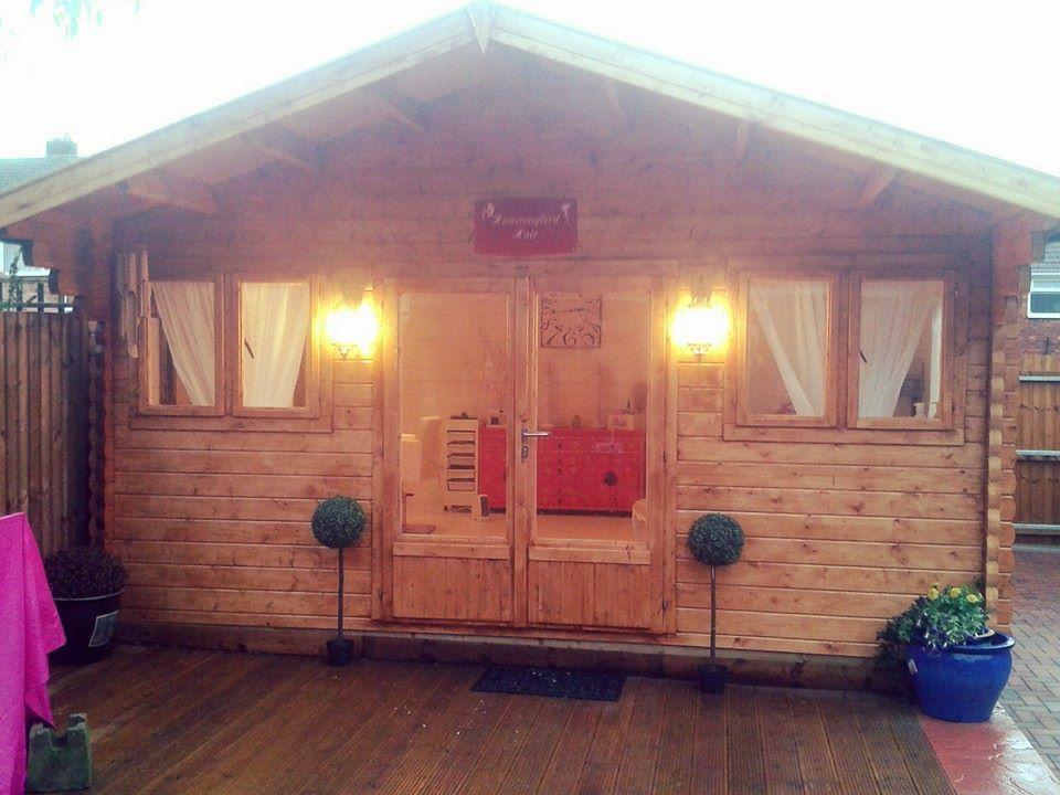 Home Spa Design Ideas: Log Cabin/ Hair Salon