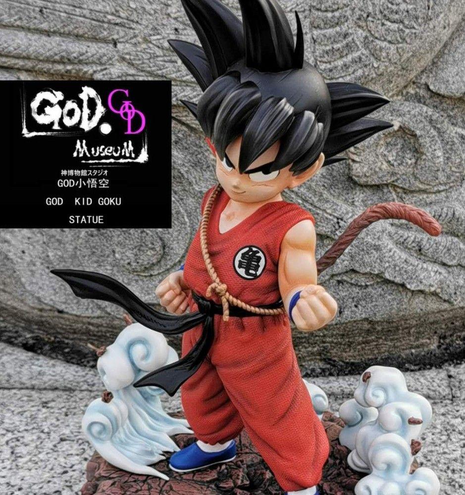 God Studio 1 4 Kid Goku Resin Statue Red Ver Kid Goku Studio Kids
