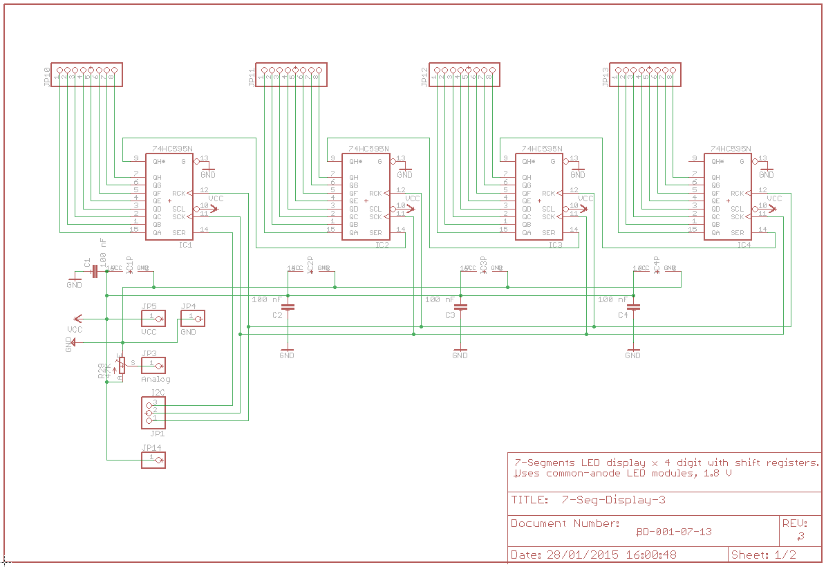 Arduino Daisy Chain Shift Register With 74hc595 Circuit Diagram