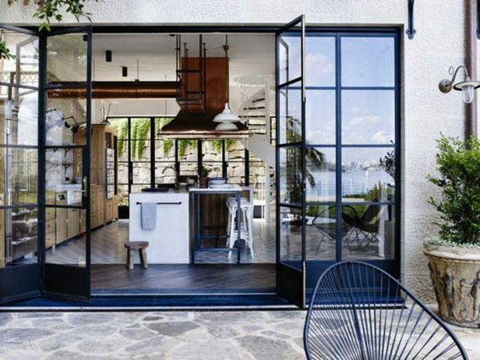 Véranda Moderne Cuisine D été Couverte Ouvert Sur  Galerie De Photos