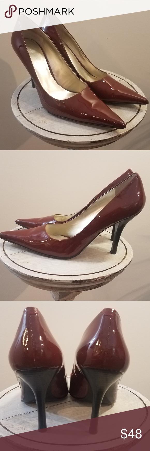 NINE WEST Freda Heels Pumps Leather Women s 9M Great pair of gently used NINE  WEST Freda 90aebcc1b