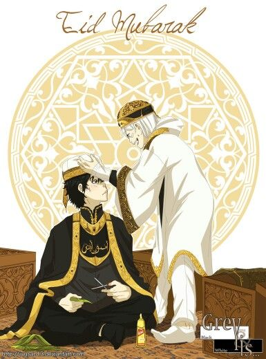 They're wearing Jordan traditional clothes!! <3  White and Black