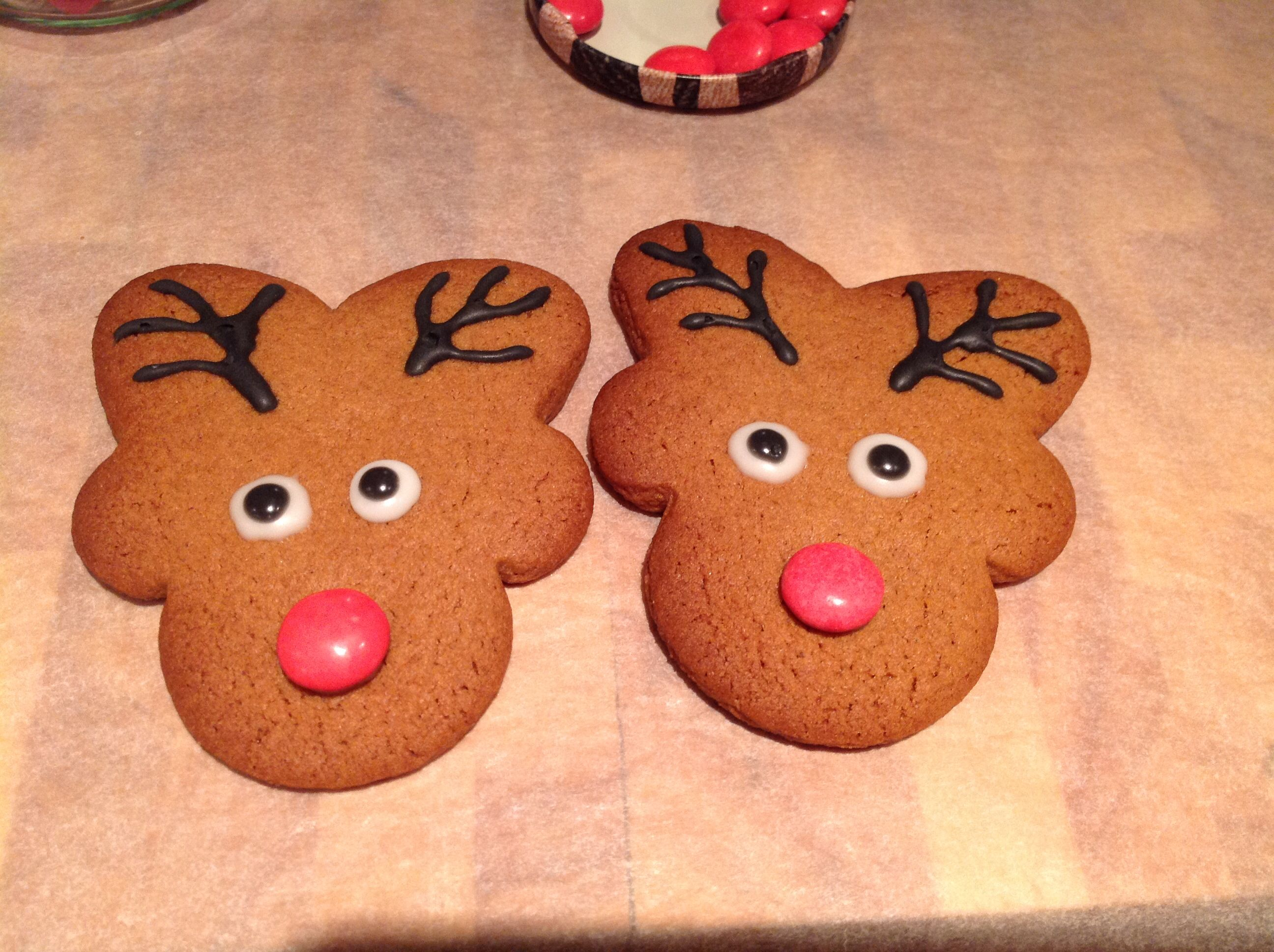 Reindeer Rudolph gingerbread! This recipe http//www.bbc