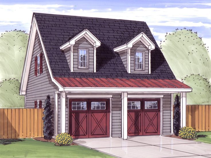 050G0045 2Car Garage Loft Plan Features CountryStyle