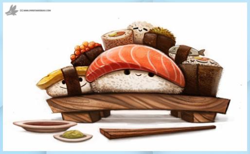 Giorno 830. Sushi Party di Cryptid-Creations su DeviantArt - Cibo Giapponese #Cibo Giapponese anime #Cibo Giapponese disegni #Cibo Giapponese food #Cibo Giapponese kawaii #Cibo Giapponese ricette #Cibo Giapponese sushi #CryptidCreations #DeviantArt #giorno #Party #Sushi