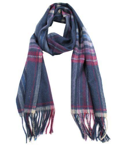 ef29bf7456db4 Modadorn Winter Sale Unisex Plaid and Checkered Cashmere Feel Wool Fringe  Scarf