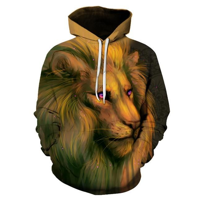Mens Funny Animal 3D Printing Long Sleeve Hoodies Sweatershirt Tops Shirt Sportwear