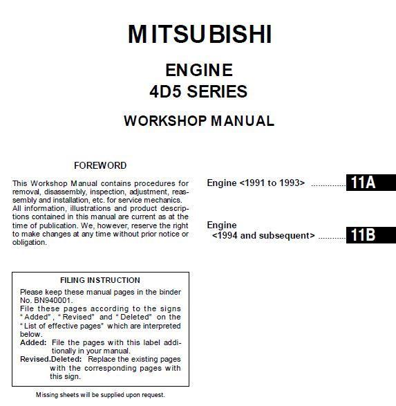 New Post Mitsubishi Engine 4d56 1991 1993 Repair Manual Has Been Published On Procarmanuals Com Engine Mitsubishi Https Repair Manuals Mitsubishi Manual