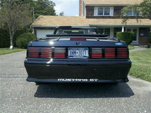 mustang rear bumper cover 87 93 gt