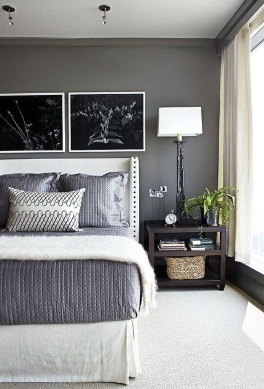 Master bedroom grey paint ideas  Dramatic bedroom  Pintura dormitorios  Pinterest  Bedrooms
