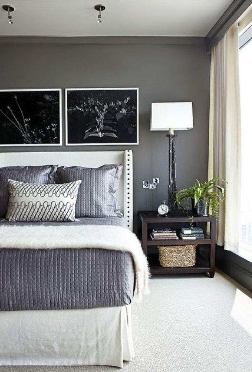 Master bedroom ideas grey  Dramatic bedroom  Pintura dormitorios  Pinterest  Bedrooms