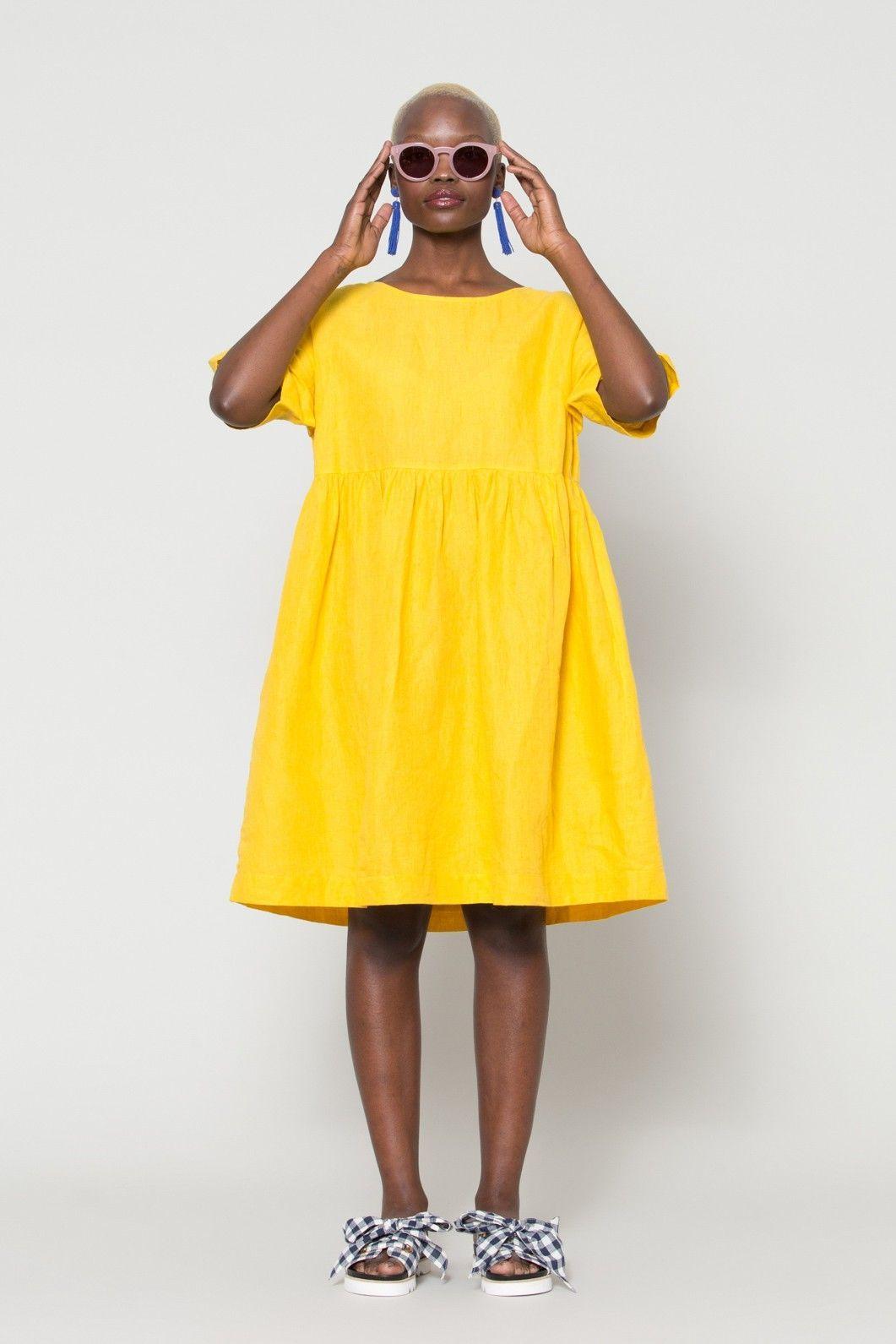 Gorman Summer 18 Collection Lucia Sunglasses Linen Smock Dress Check Mate Sandal Smock Dress Clothes Dresses [ 1591 x 1061 Pixel ]