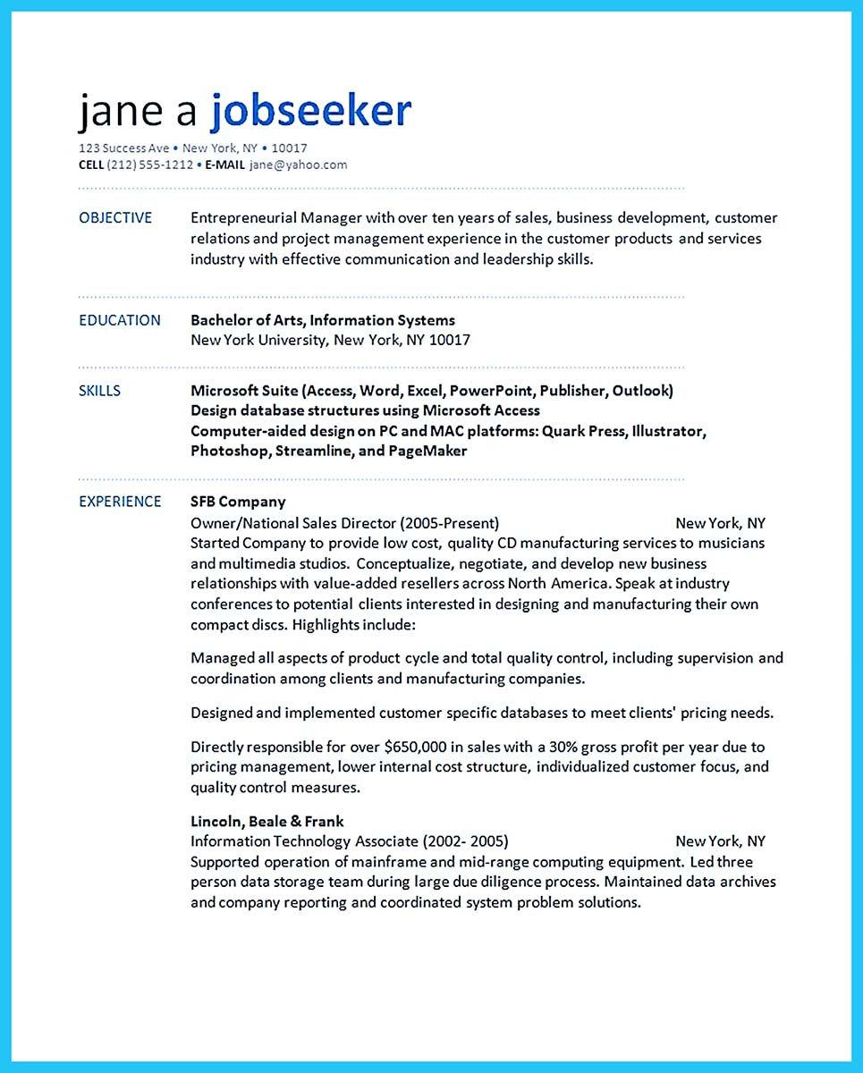 cool Make the Most Magnificent Business Manager Resume for