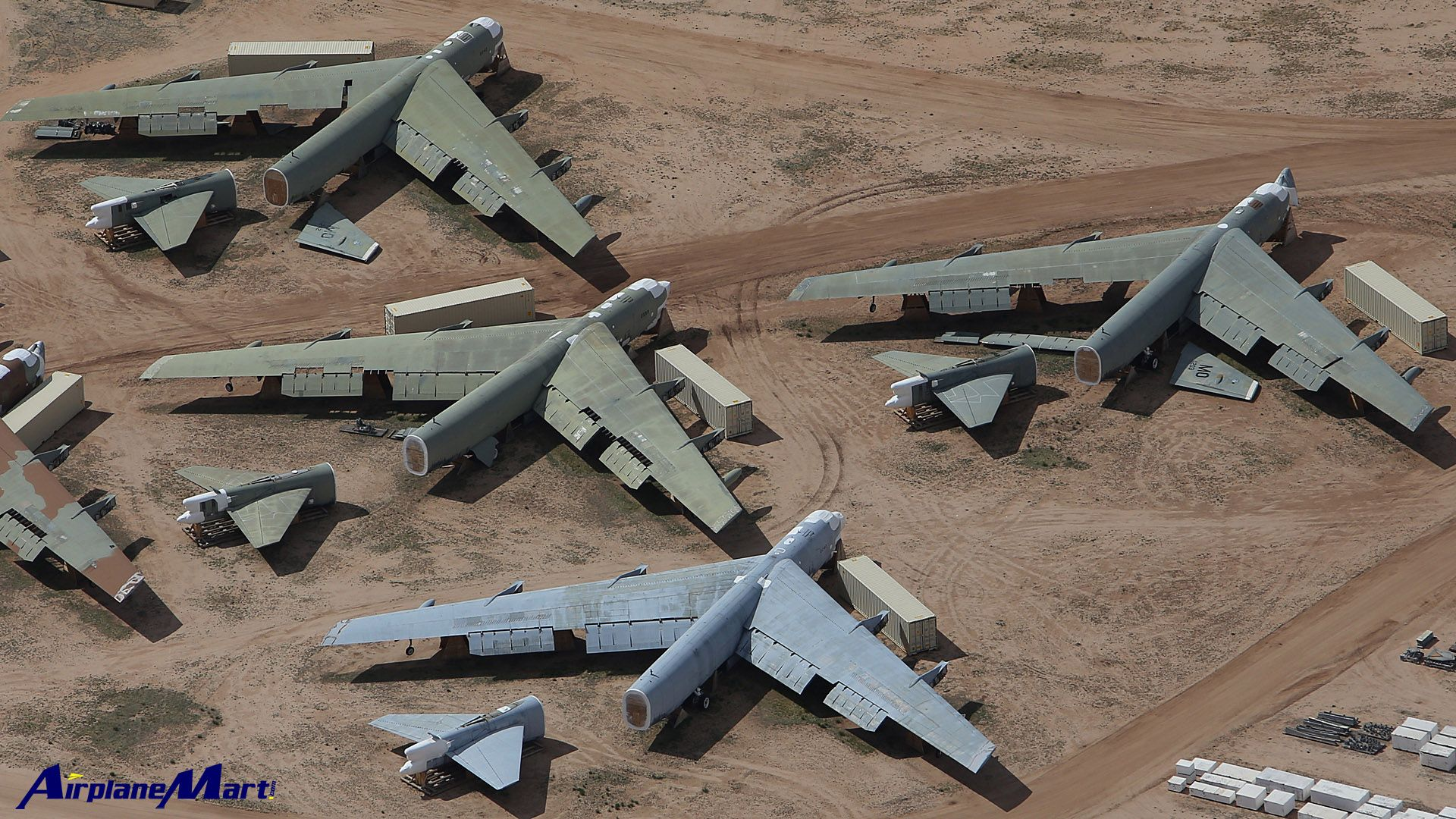 Broken Up Boeing B 52 S Stratofortress Davis Monthan Air Force