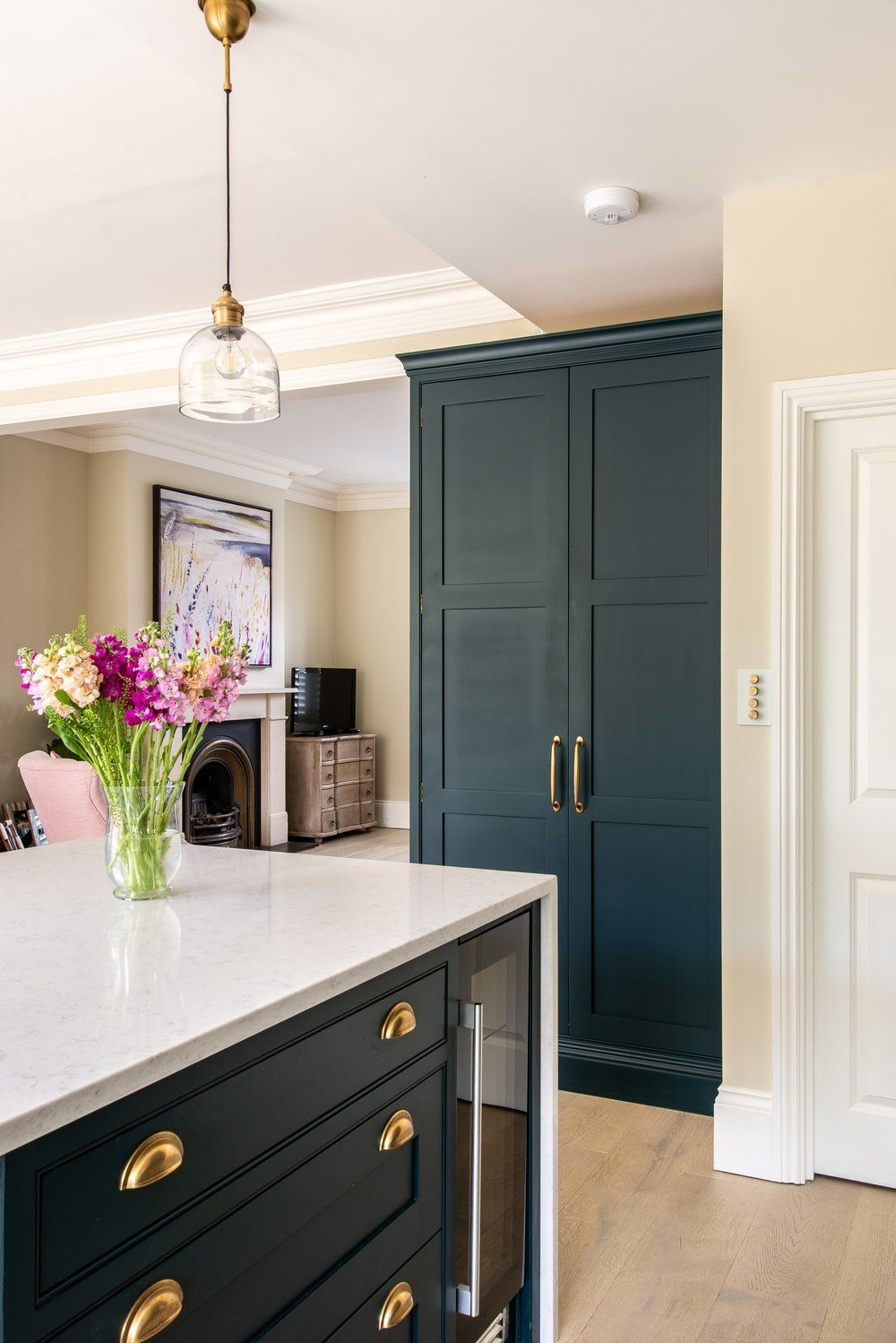 Cotswold Cup Pull — Herringbone Pantry  Open plan kitchen diner