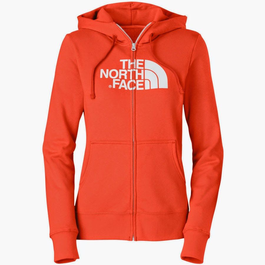 Cute Zip Up back to school hoodie. The North Face half