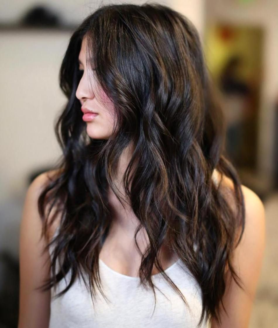 cute layered hairstyles and cuts for long hair brown highlights