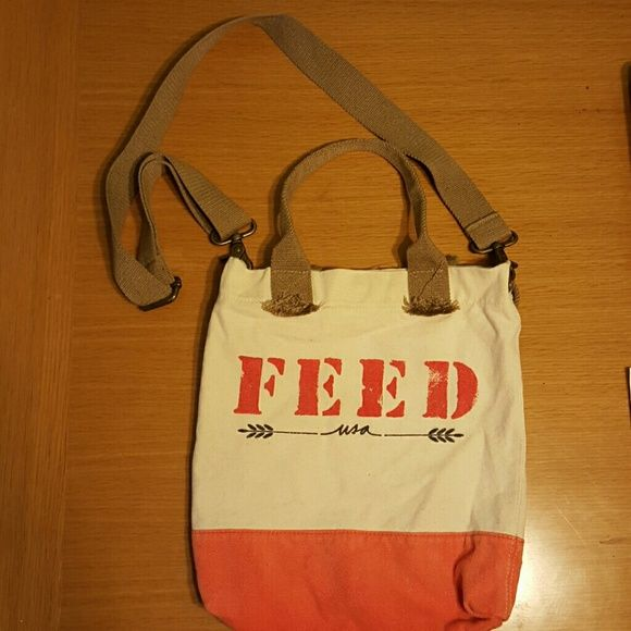 FEED BAG CROSSBODY Cute bag from Target. Messenger/Satchel  Easy to wash. Hardly used, no signs of wear.  Colors: Beige, Orange and Tan.  Please feel free to ask any questions! Bags Crossbody Bags