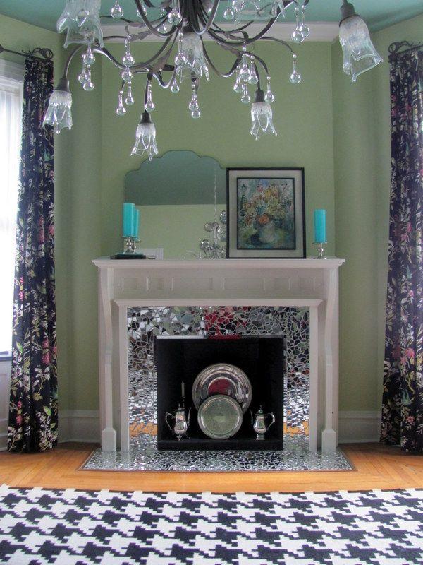 Mirror Mosiac Fireplace